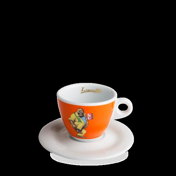 Orange ceramic cup